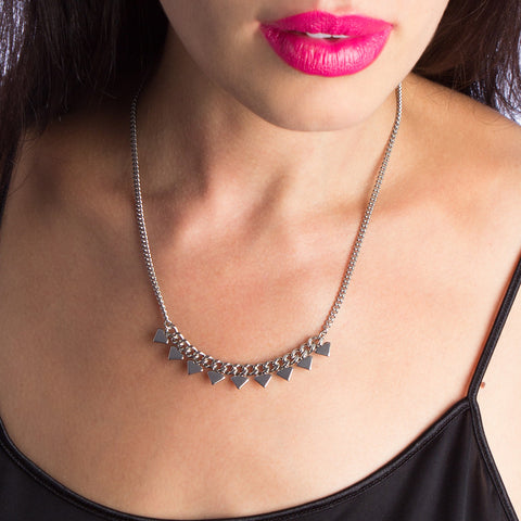 STRUCTURE Spiked Arc Necklace