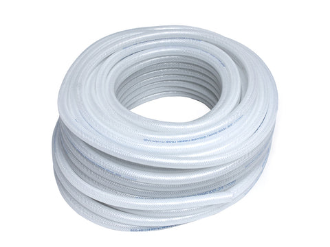 HPS High Temperature Reinforced Clear Platinum Cured Silicone Braid Hose Tubing