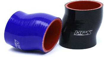 HPS 3 inch High Temp Reinforced Offset Silicone Coupler Hoses Black Blue