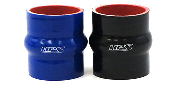 HPS 1 inch High Temp Reinforced Silicone Hump Coupler Hoses Black Blue
