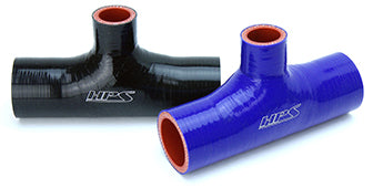 HPS 2 inch High Temp Reinforced Silicone T Hose Adapter Black Blue