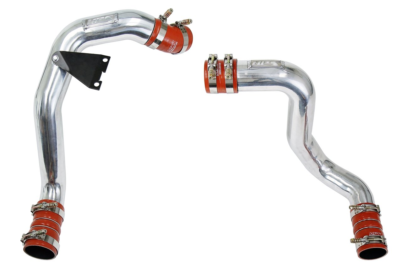 HPS Hot & Cold Side Charge Pipe with Intercooler Boots Kit, 03-07 Ford F450 Superduty Powerstroke 6.0L Diesel Turbo, Polish