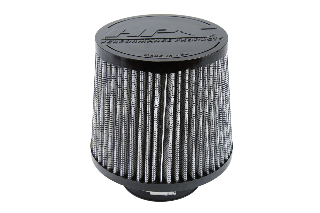 HPS Performance Air Filter 3 inch ID, 5 inch Length universal replacement intake kit shortram cold ram HPS-4276