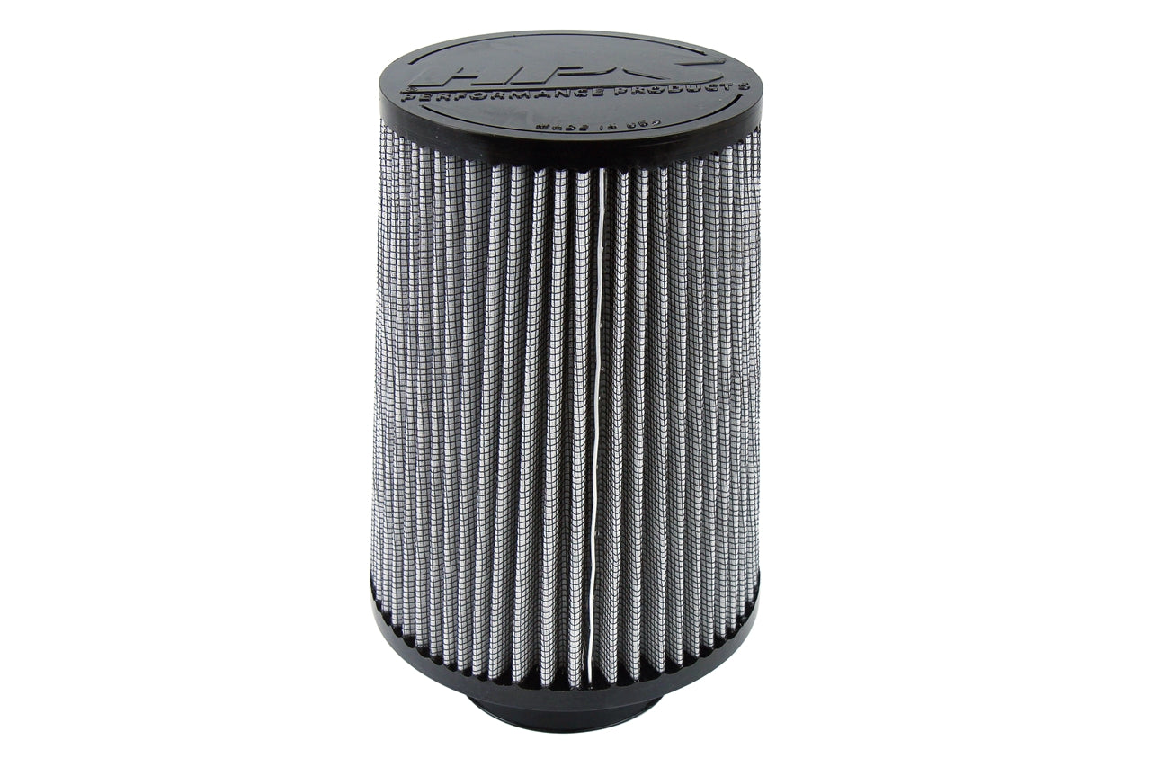 HPS Performance Air Filter 3 inch ID, 8 inch Length universal replacement intake kit shortram cold ram HPS-4297