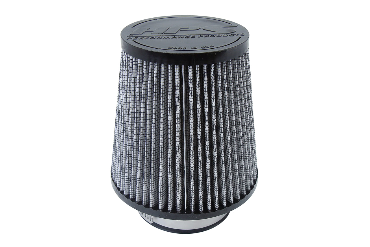 HPS Performance Air Filter 3.5 inch ID, 6 inch Length universal replacement intake kit shortram cold ram HPS-4298