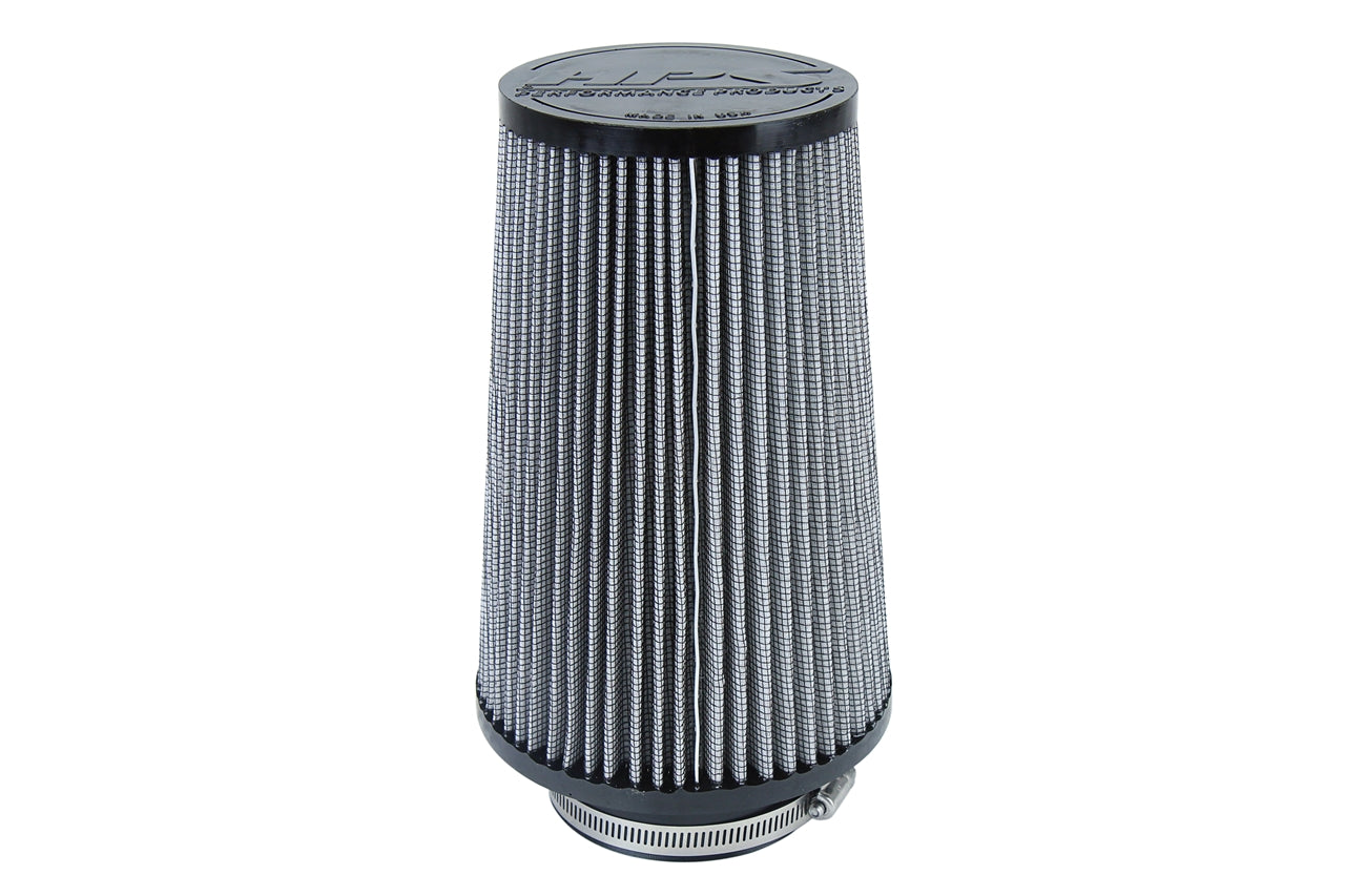 HPS Performance Air Filter 3.5 inch ID, 9 inch Length universal replacement intake kit shortram cold ram HPS-4299
