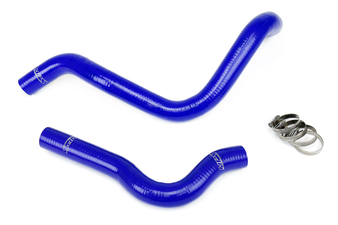 HPS Blue Reinforced Silicone Radiator Hose Kit Coolant Honda 99-00 Civic Si 57-1019-BLUE
