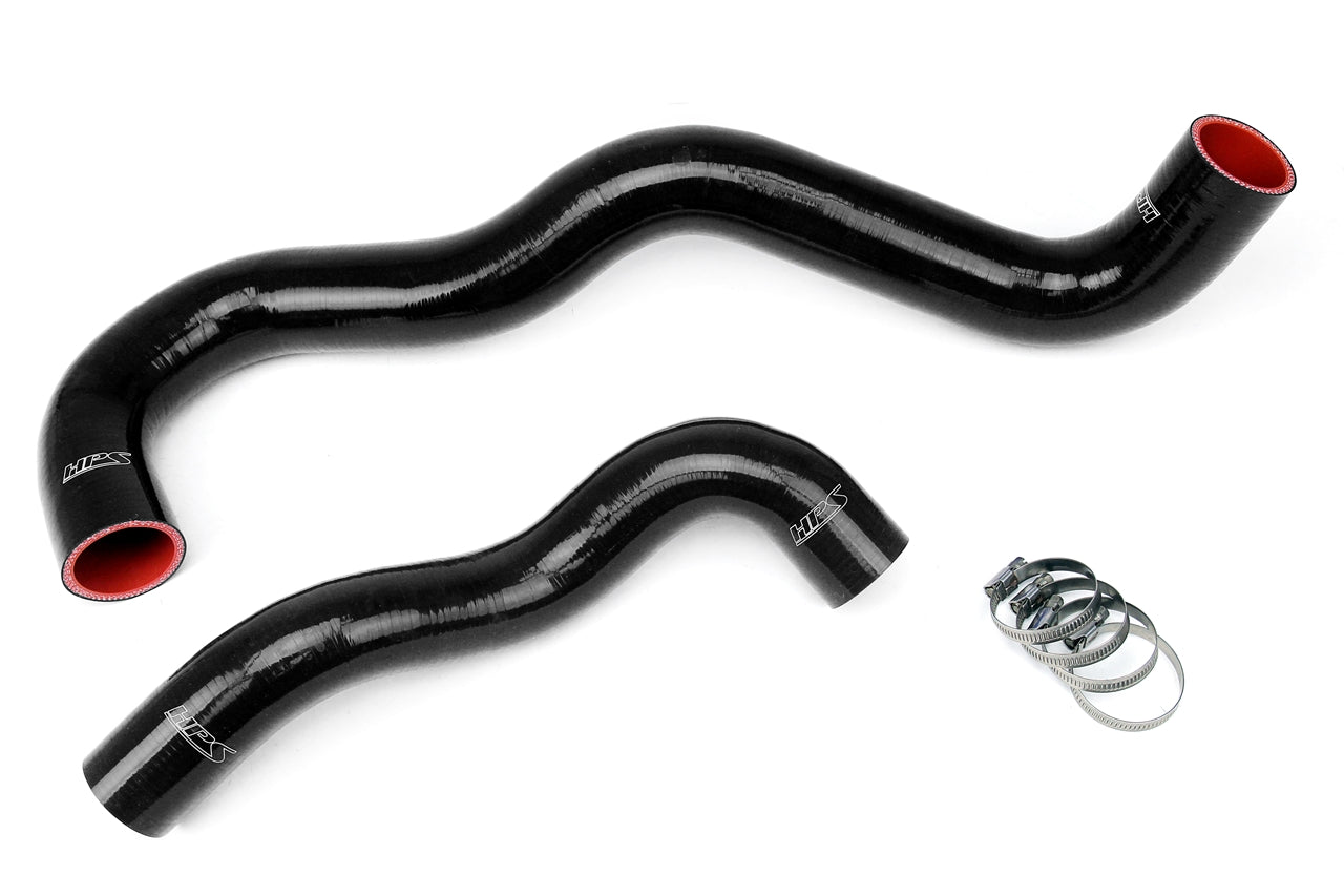 HPS Black Silicone Radiator Hose Kit 2003-2007 Ford F350 Superduty 6.0L Diesel Turbo Twin Beam Suspension 57-1075-BLK
