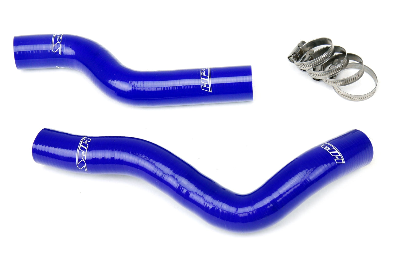 HPS Blue Reinforced Silicone Radiator Hose Kit Coolant Honda 09-13 Fit 57-1229-BLUE