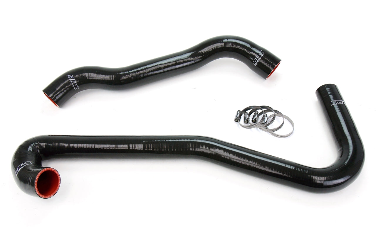 HPS Black Reinforced Silicone Radiator Hose Kit Coolant Jeep 06-08 Grand Cherokee SRT8 6.1L V8 WK1 57-1453-BLK