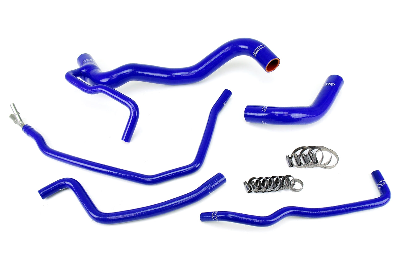 HPS Blue Silicone Radiator Hose 5pcs Complete Kit Coolant Bypass Scion 11-15 tC 57-1479-BLUE