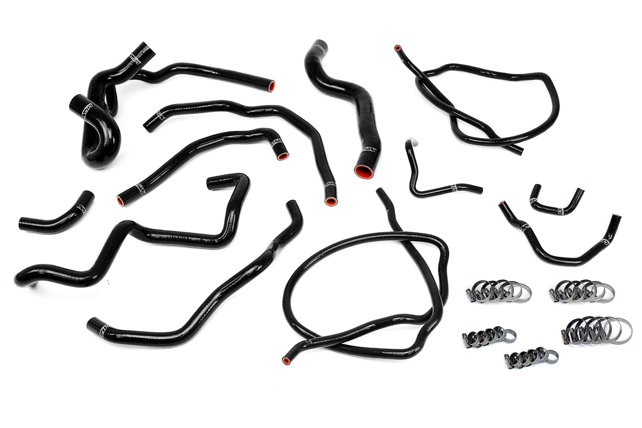 HPS Black Reinforced Silicone Radiator + Heater Hose Kit Coolant Mazda 07-09 Mazdaspeed 3 2.3L Turbo 57-1511-BLK