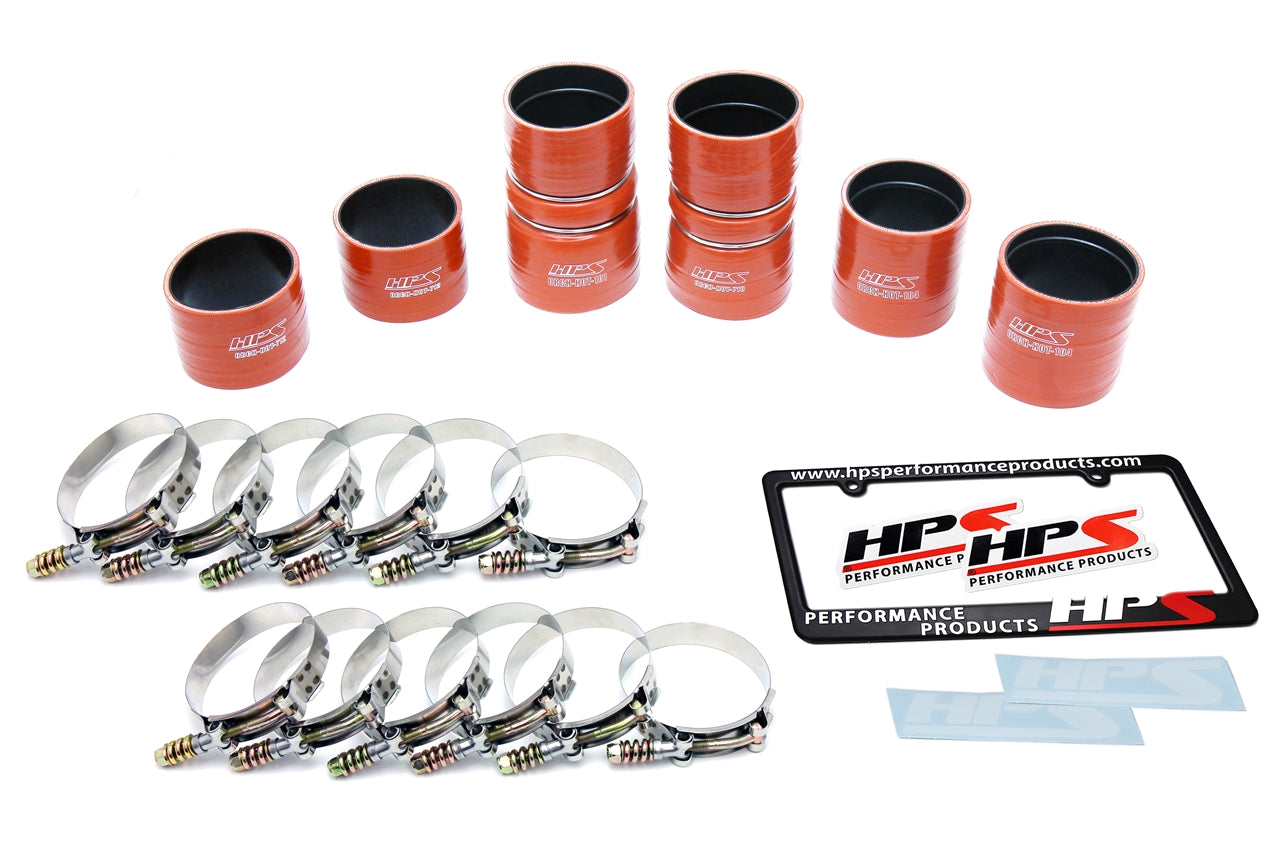 HPS High Temp Reinforced Silicone Intercooler Hose Boots Kit Ford 1999 - 2003 F350 Superduty 7.3L PowerStroke Diesel , 57-1539