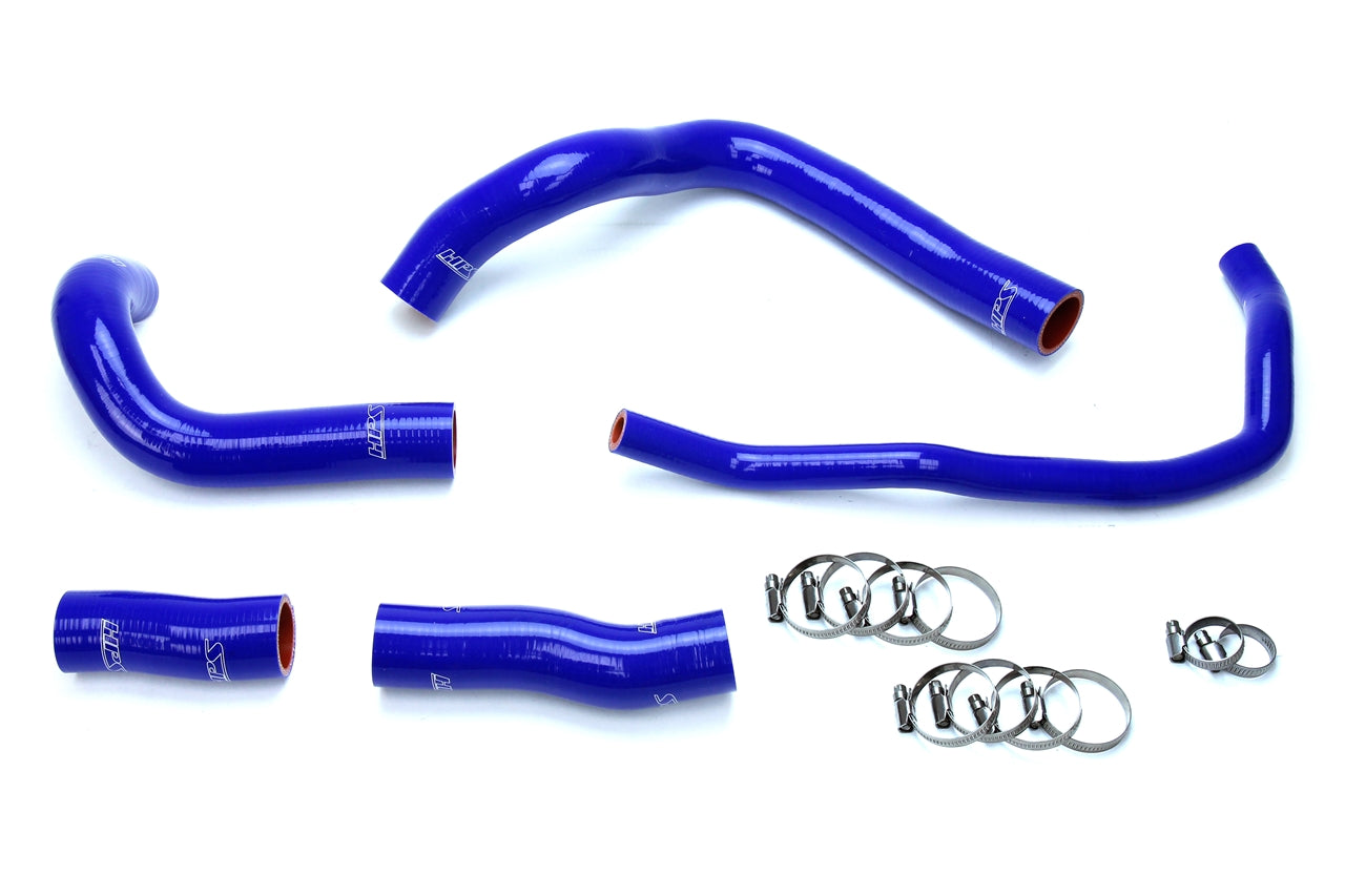 HPS Blue Reinforced Silicone Radiator Hose Kit Coolant Lexus 16-17 GS200t 2.0L Turbo 57-1633-BLUE
