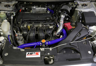 HPS Performance Shortram Air Intake Kit Installed 2008-2014 Mitsubishi Lancer 2.0L 2.4L NonTurbo EGR Tube Equipped 827-162BL