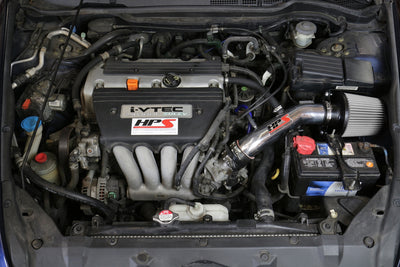 HPS Performance Shortram Air Intake Kit Installed 2003-2007 Honda Accord 2.4L with MAF Sensor SULEV 827-173BL