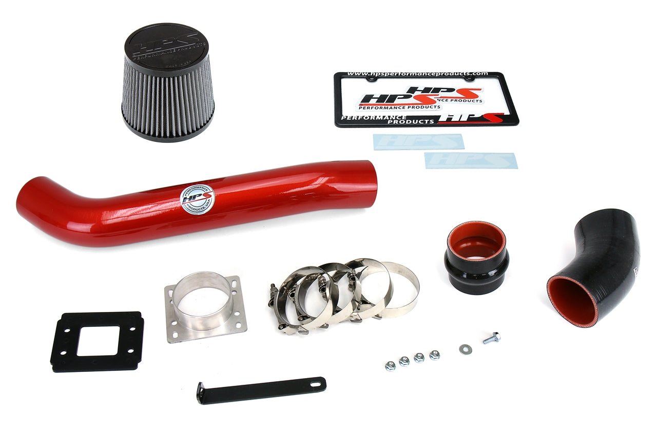 Post MAF Tube HPS 17838-RED-2 Red Silicone Air Intake Hose