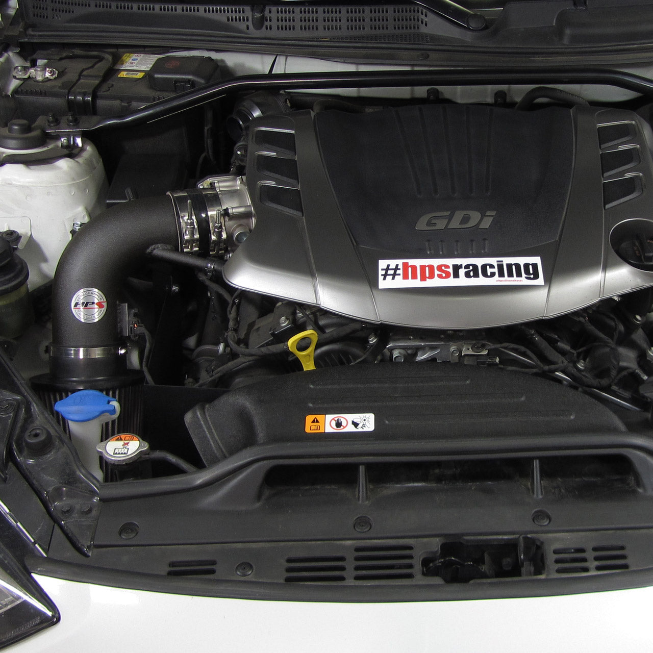 Hps Cold Air Shortram Intake Kit 2013 2015 Hyundai Genesis Coupe 3 8l V6 Red 827 525r Hps Performance Products