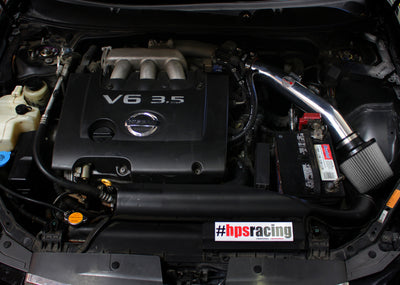 HPS Performance Shortram Air Intake Kit Installed 2004-2008 Nissan Maxima V6 3.5L 827-558P