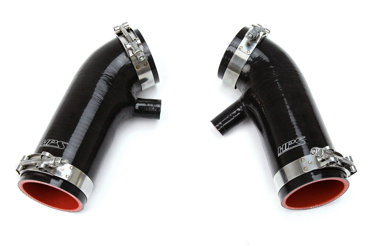 HPS Black Reinforced Silicone Post MAF Air Intake Hose Kit Nissan 09-14 370Z 3.7L 87-68426-BLK
