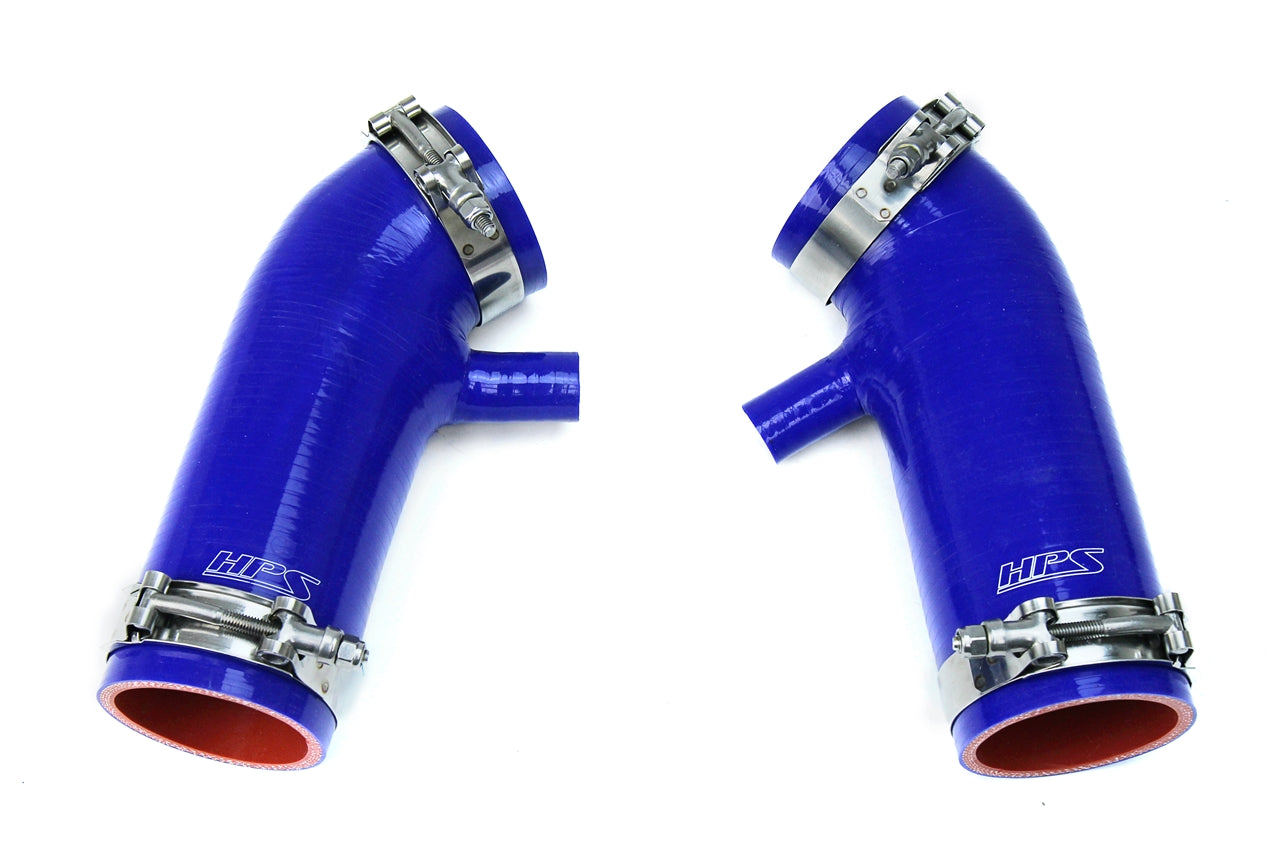 HPS Blue Reinforced Silicone Post MAF Air Intake Hose Kit Nissan 09-14 370Z 3.7L 87-68426-BLUE