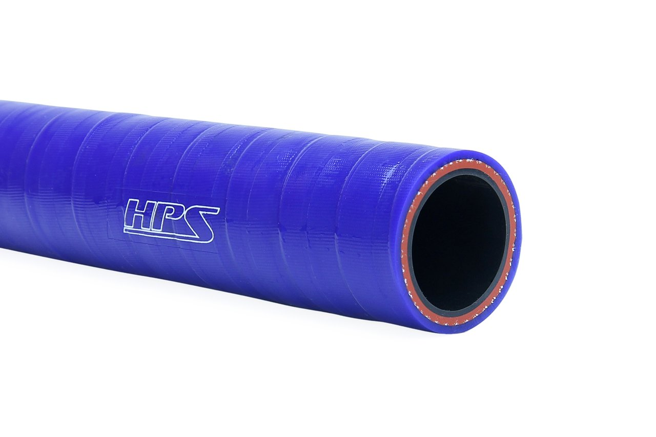HPS Silicone Hoses HTSC-350-L4-BLUE Silicone High Temperature 4-ply Reinforced Straight Coupler Hose 4 Length 70 PSI Maximum Pressure Blue 3-1//2 ID