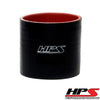 HPS 2 inch ID 3 inch Long Black Silicone Straight Coupler Hose High Temp 4-ply Reinforced 51mm HTSC-200-BLK