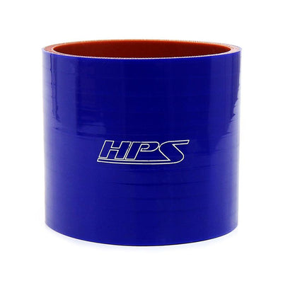 "HPS 1 inch blue silicone straight coupling hose high temp 4-ply reinforced, available in 3"" 4"" 6"" length"