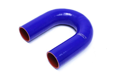 "HPS 2-3/4"" ID, Silicone 180 Degree U Bend Elbow Coupler Hose, High Temp 4-ply Reinforced, Blue, 70mm ID"