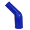 HPS 3/4 - 1-1/4 inch 1.25 ID Blue Silicone 45 Degree Elbow Reducer Coupler Hose High Temp 4-ply Reinforced 19mm 32mm HTSER45-075-125-BLUE