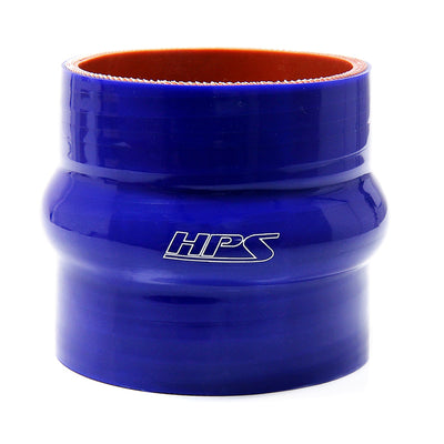 HPS 4-1/4 4.25 inch ID 3 inch Long Blue Silicone Straight Hump Coupler Hose High Temp 4-ply Reinforced 108mm HTSHC-425-BLUE