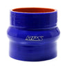 HPS 2-1/2 2.5 inch ID 4 inch Long Blue Silicone Straight Hump Coupler Hose High Temp 4-ply Reinforced 63mm HTSHC-250-L4-BLUE