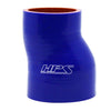 HPS 2-1/4 - 2-1/2 inch 2.25 2.5 ID 3 inch Long Blue Silicone Offset Straight Reducer Coupler Hose High Temp 4-ply Reinforced 57mm 63mm HTSOR-225-250-BLUE