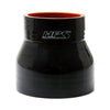 HPS 1-1/4 - 1-1/2 inch 1.25 1.5 ID 3 inch Long Black Silicone Straight Reducer Coupler Hose High Temp 4-ply Reinforced 32mm 38mm HTSR-125-150-BLK