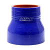 HPS 1-1/2 - 1-5/8 inch 1.5 1.62 ID 3 inch Long Blue Silicone Straight Reducer Coupler Hose High Temp 4-ply Reinforced 38mm 41mm HTSR-150-162-BLUE