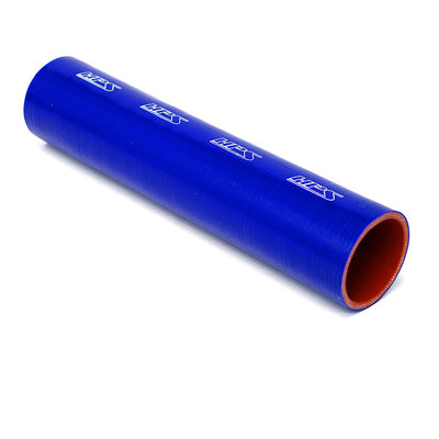 HPS 1 inch (25mm) ID blue silicone straight coupler coolant tube hose high temp 4-ply reinforced, available in 1 foot or 3 feet length