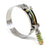 HPS Stainless Steel Spring Loaded T-Bolt Hose Clamp SAE 124 for 4.77 - 5.08 inch (121mm-129mm) for 4.5 inch ID hose