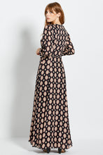 Noura Dress - Casablanca Tile  - Black