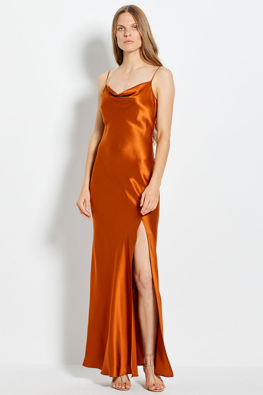 Simone Dress - Copper