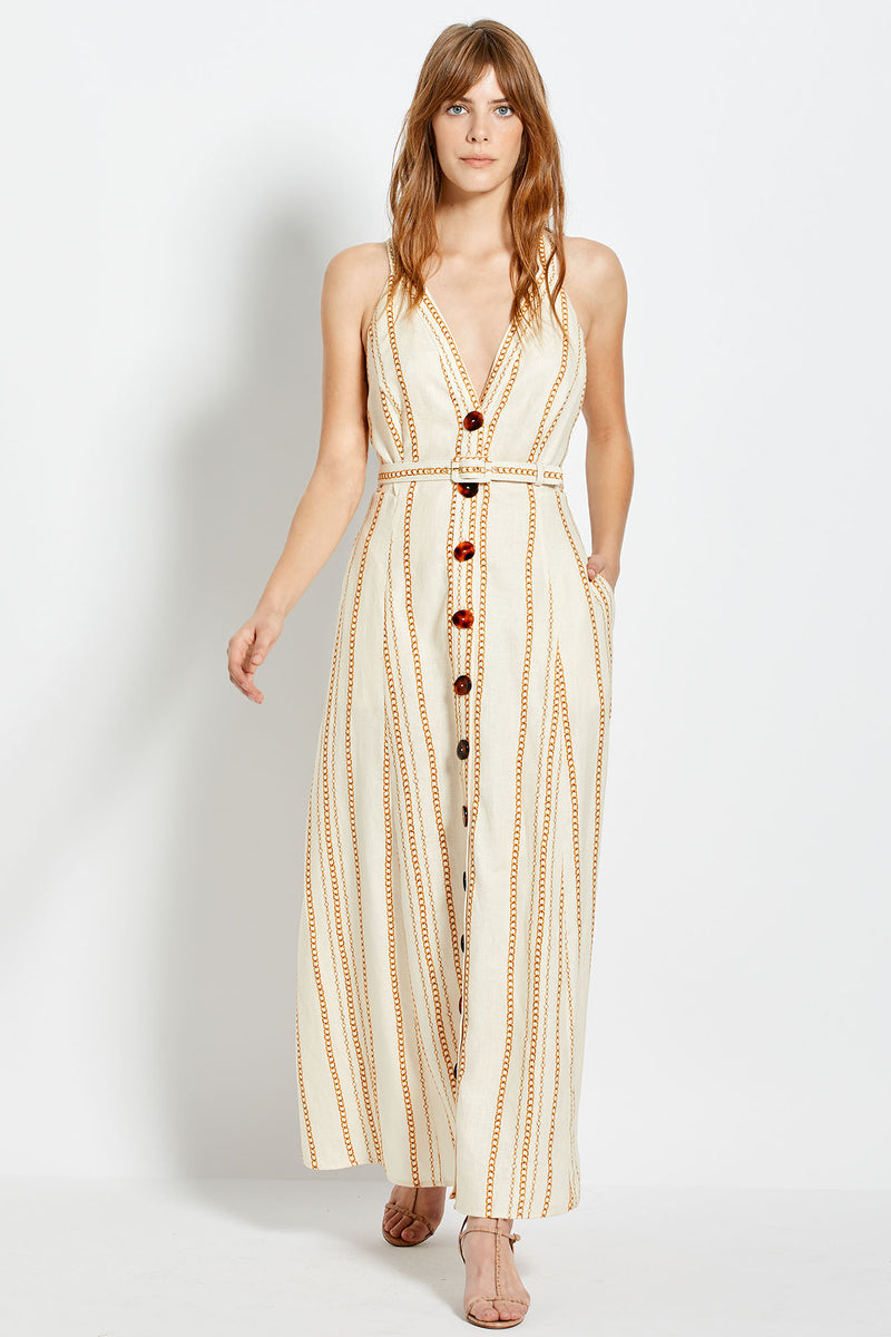 Yasmine Dress - Vintage Chain - Ivory