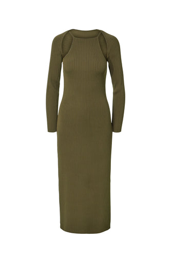 Estela Dress - Khaki Green