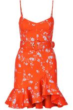 Arielle Floral Frill Dress - Poppy Multi