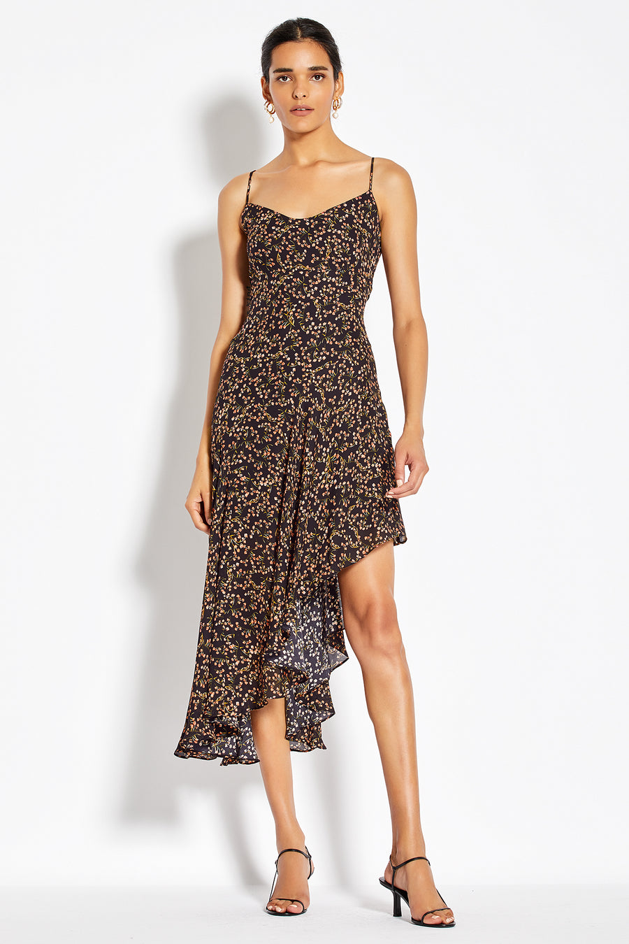 Blocked Slip Dress - Persimmon Multi