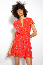 Ruffle Cascade Dress - Poppy Multi