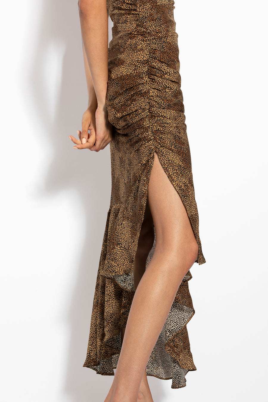 Triangle Top Slip Dress - Tan Multi