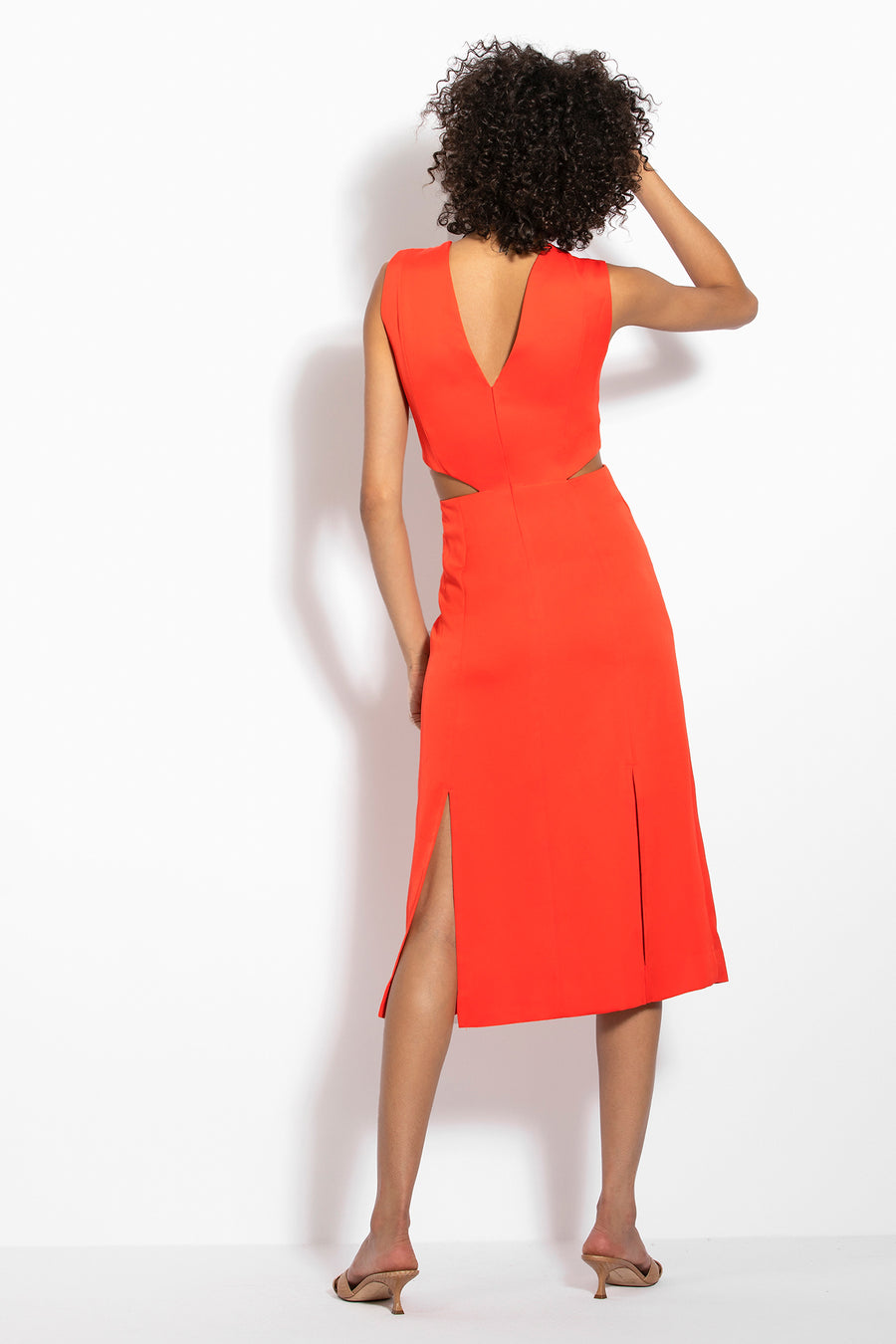Tie Front Dress - Poppy