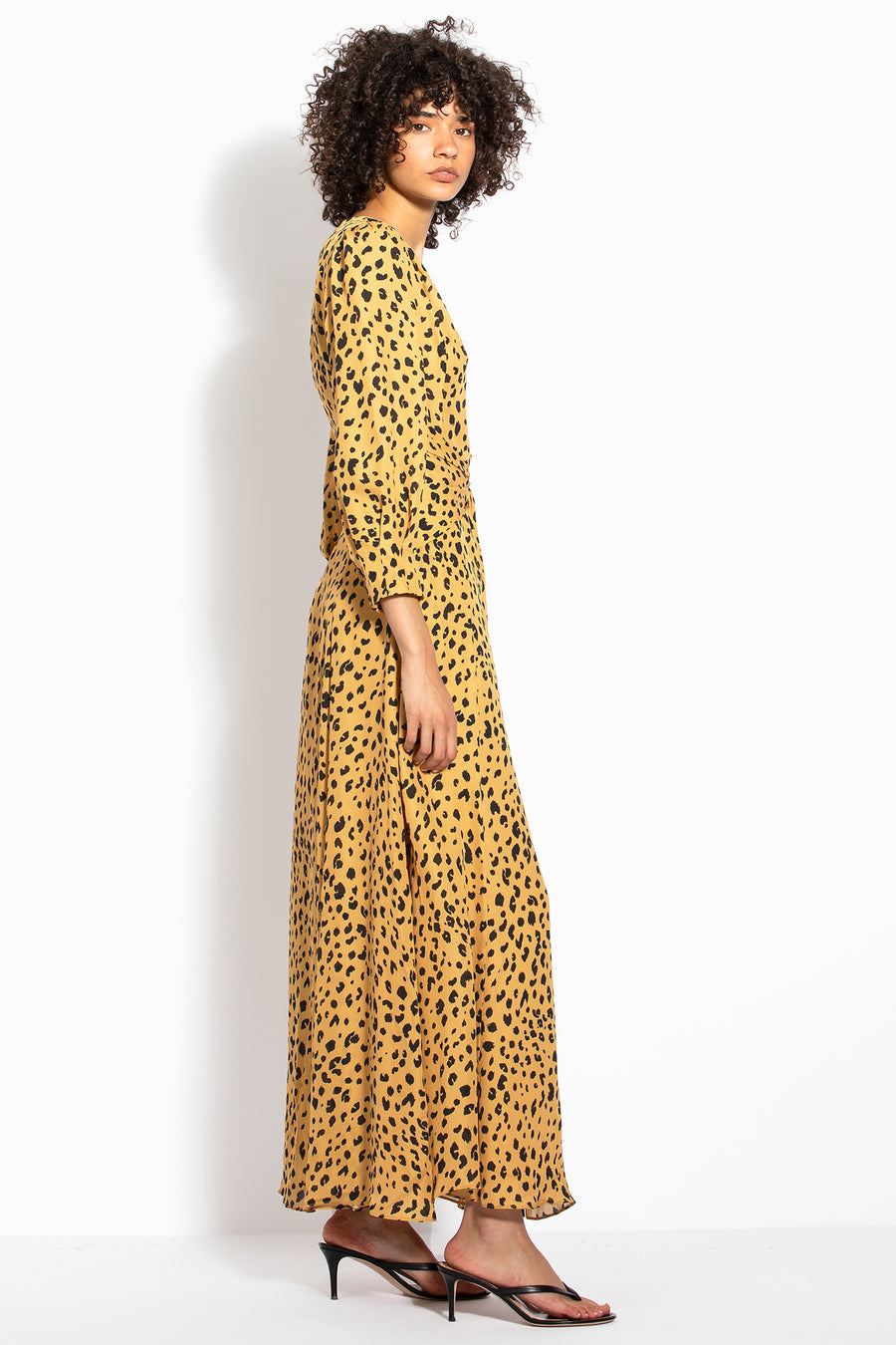Tie Front Maxi Shirtdress - Amber Multi