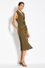 Button Up Midi Dress - Olive