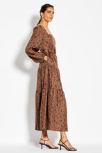 Tiered Maxi Dress - Dark Tobacco Leopard