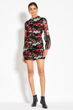 Gathered Mini Dress - Garnet Multi